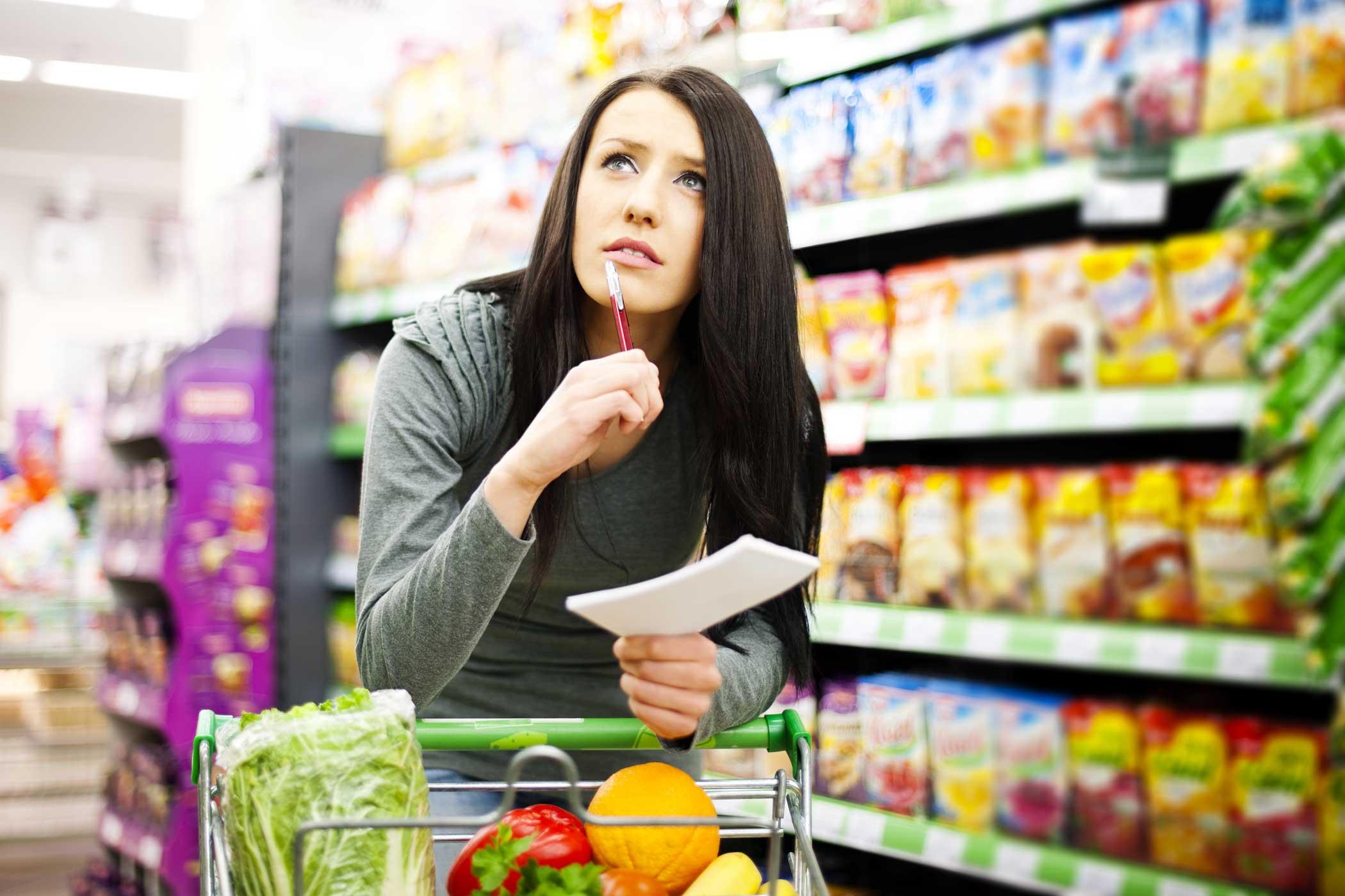 ¿Cómo comprar saludablemente en el supermercado?