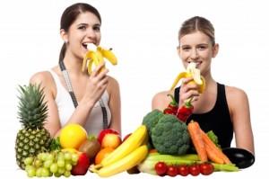 Frutas y comidas saludables