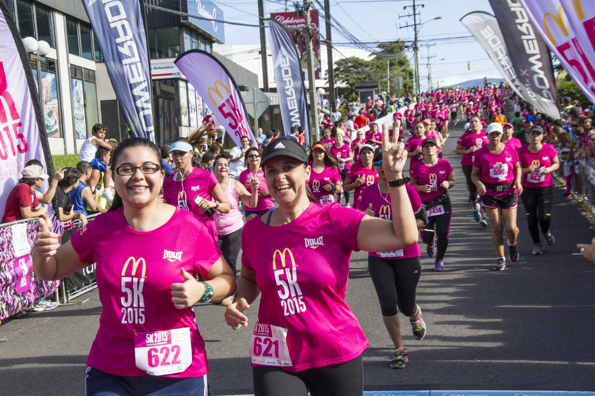 Costa Rica celebrará McDonald's 5K, la carrera para mujeres más grande de América Latina
