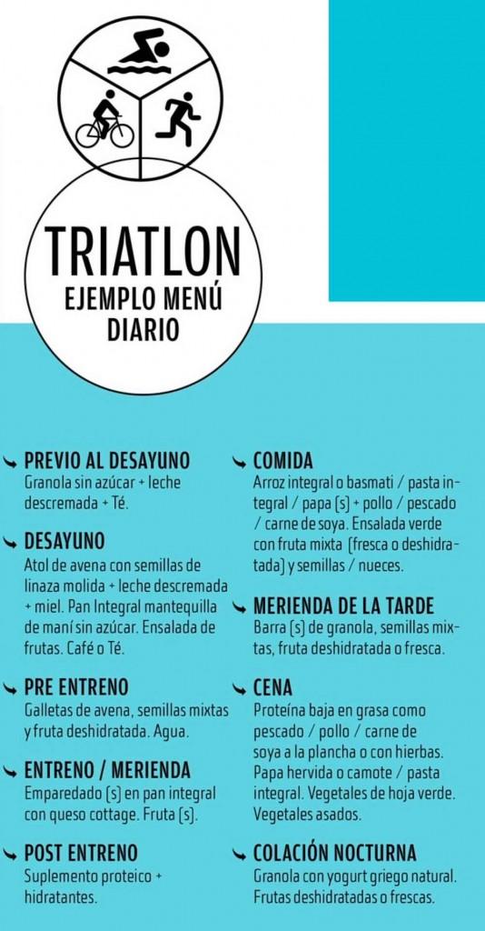 Menú Triatlón
