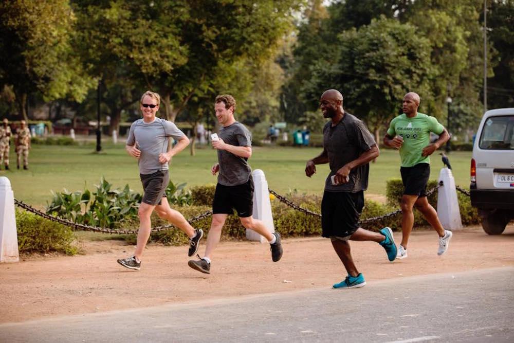Mark Zuckerberg le reta a correr 1,6 kilómetros todos los días