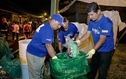 Prepárese para la romería y utilice las estaciones de reciclaje