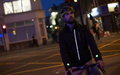Lanzan chaqueta inteligente que aumenta la seguridad de los ciclistas