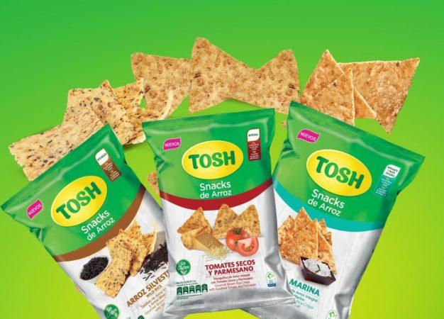 TOSH lanza tres nuevos Snacks saludables libres de gluten