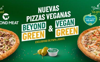 Papa John´s lanza nuevas presentaciones de pizzas veganas en el país