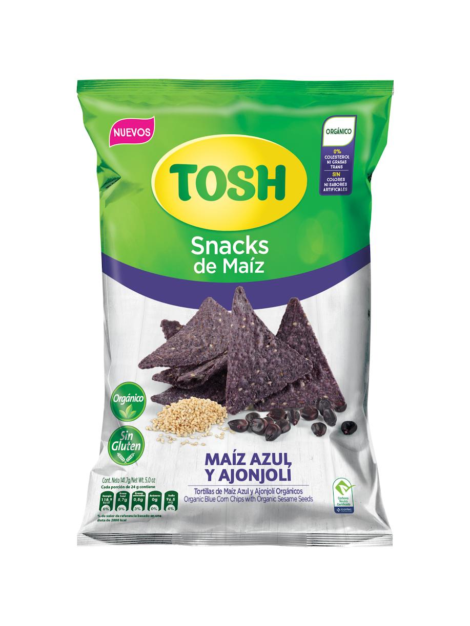 TOSH incursiona en la categoría de Snacks saludables