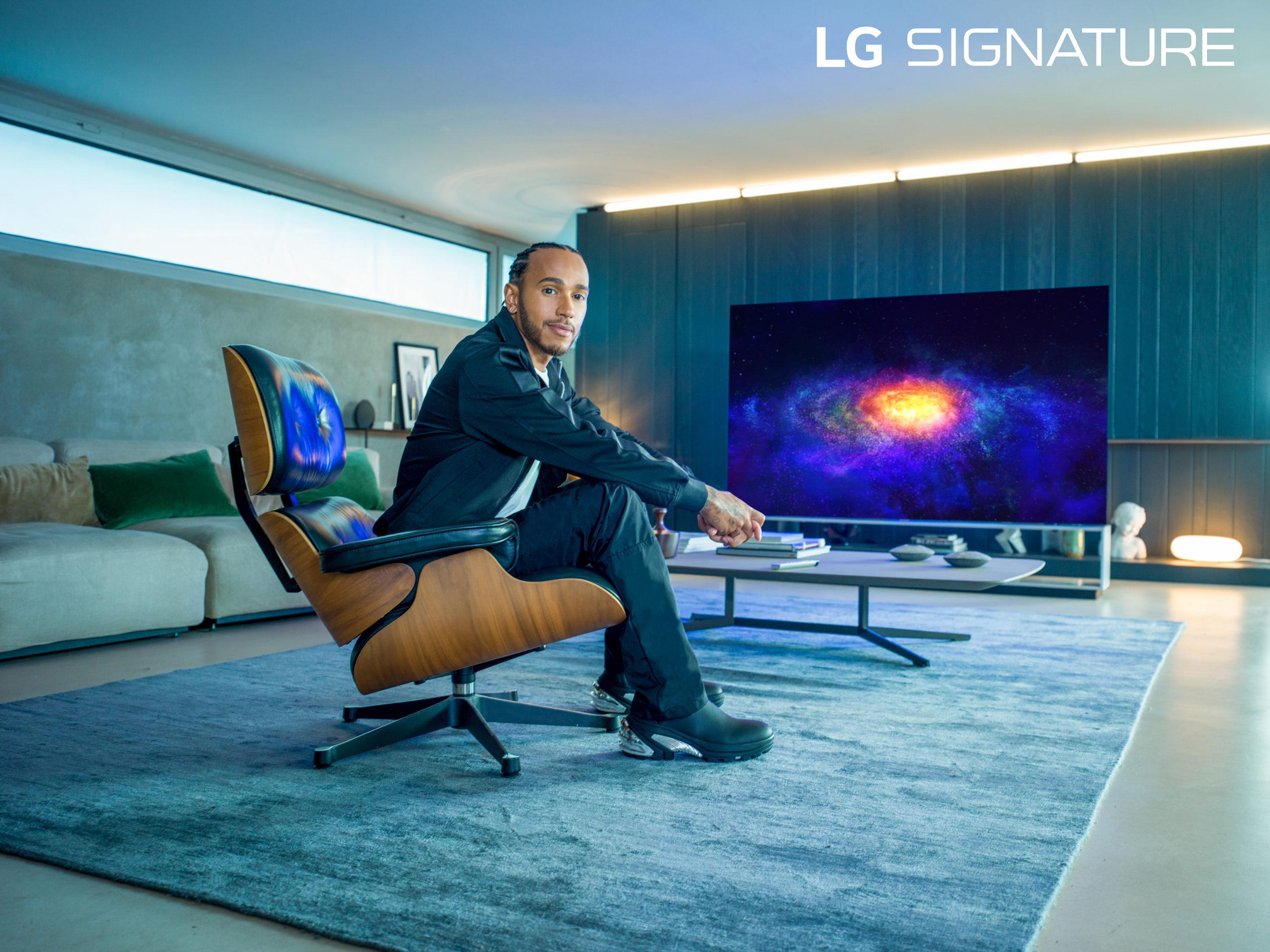 Seis veces Campeón Mundial de Fórmula UNO, Lewis Hamilton, nombrado embajador por LG Signature Brand