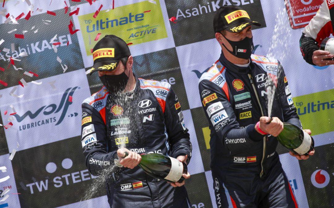El equipo de Hyundai Motorsport obtiene su cuarto podio consecutivo en el Rally de Portugal